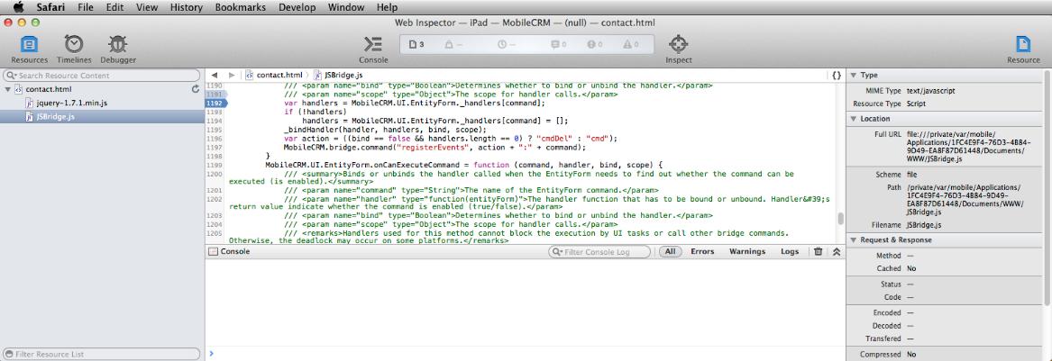 Debugging an Offline HTML solution - Resco Mobile CRM