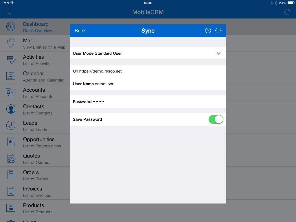 Resco Mobile CRM App User Guide for Mobile Sales, Field Service & more