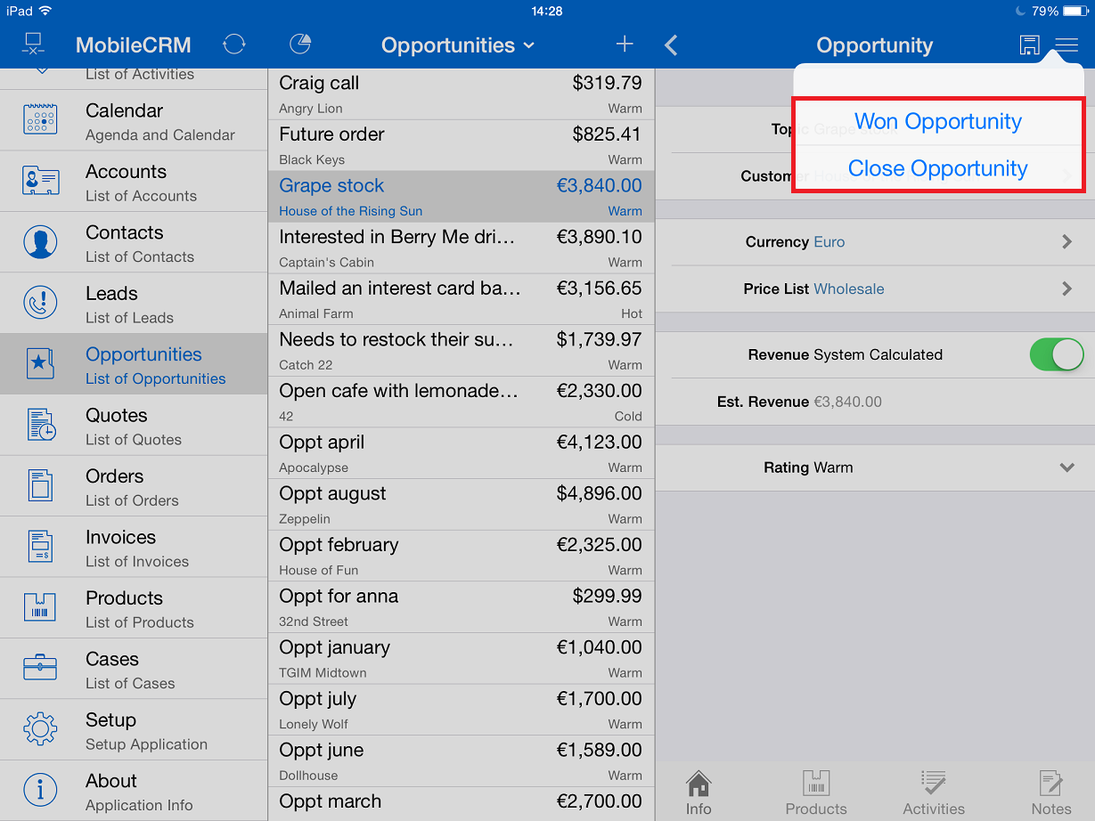Resco Mobile CRM App User Guide for Mobile Sales, Field