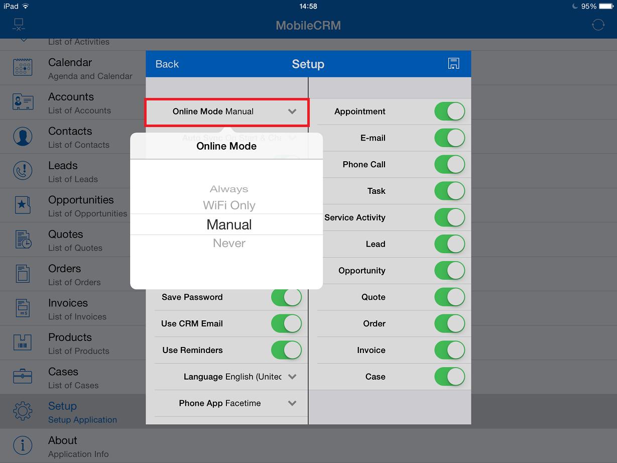 Resco Mobile CRM App User Guide for Mobile Sales, Field