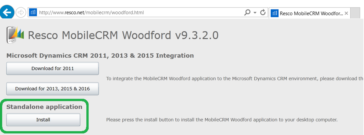 woodford install salesforce
