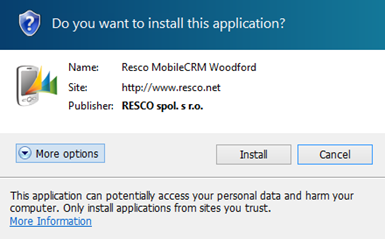 Woodford Guide - Resco Mobile CRM