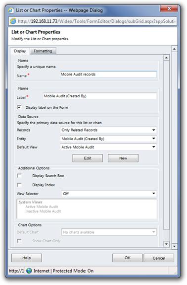 Adding Mobile Audit records on the server form 4.11.3_1