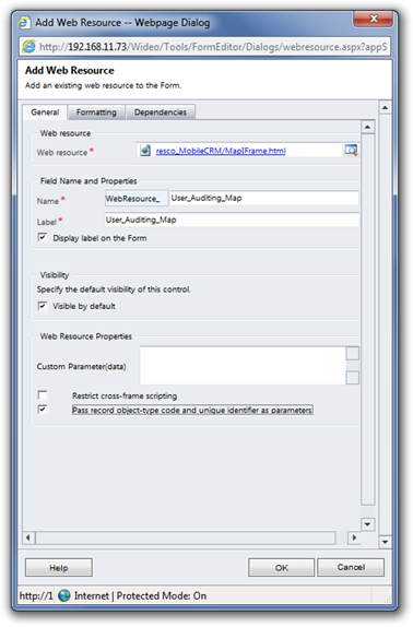 Adding Mobile Audit map on the server form 4.11.4_1