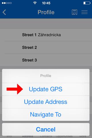 Update GPS