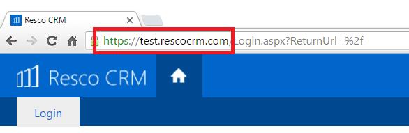 Resco CRM login