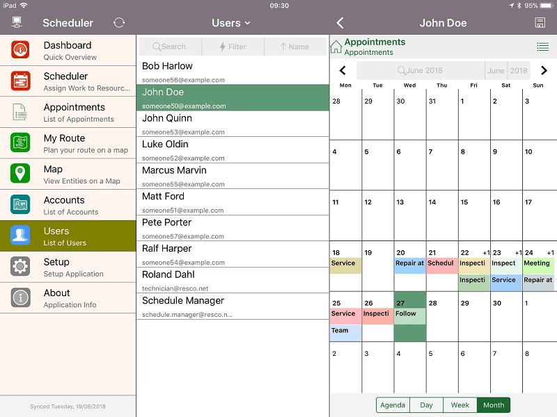resco scheduler