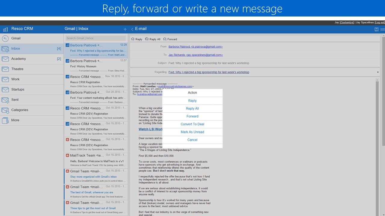 write a new message
