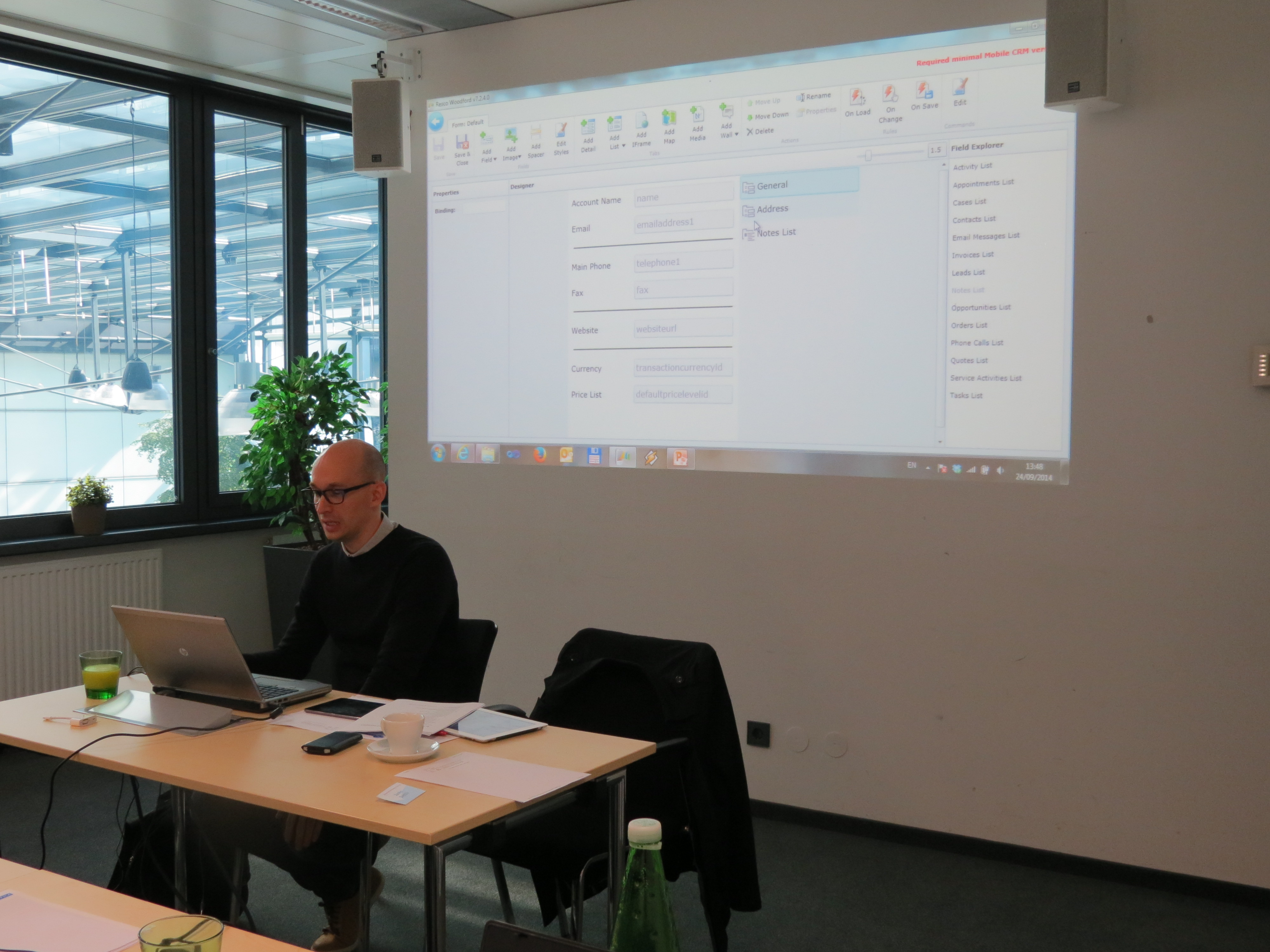 Resco Mobile CRM for Dynamics CRM Workshop in Vienna