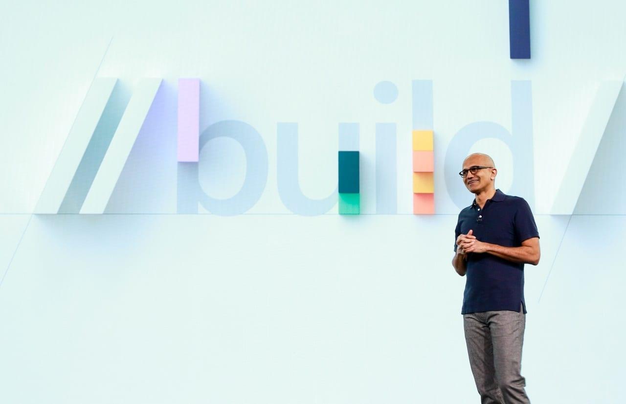 Microsoft Build developers conference, CEO Satya Nadella keynote
