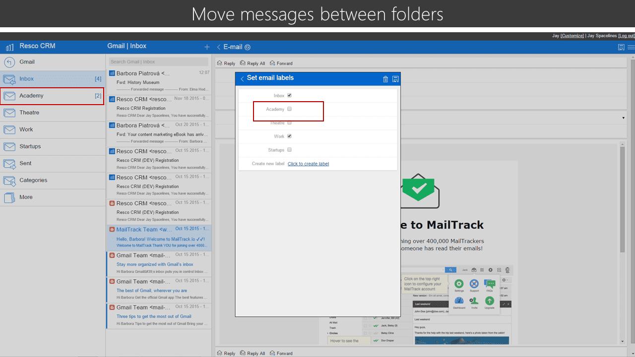 move between folders