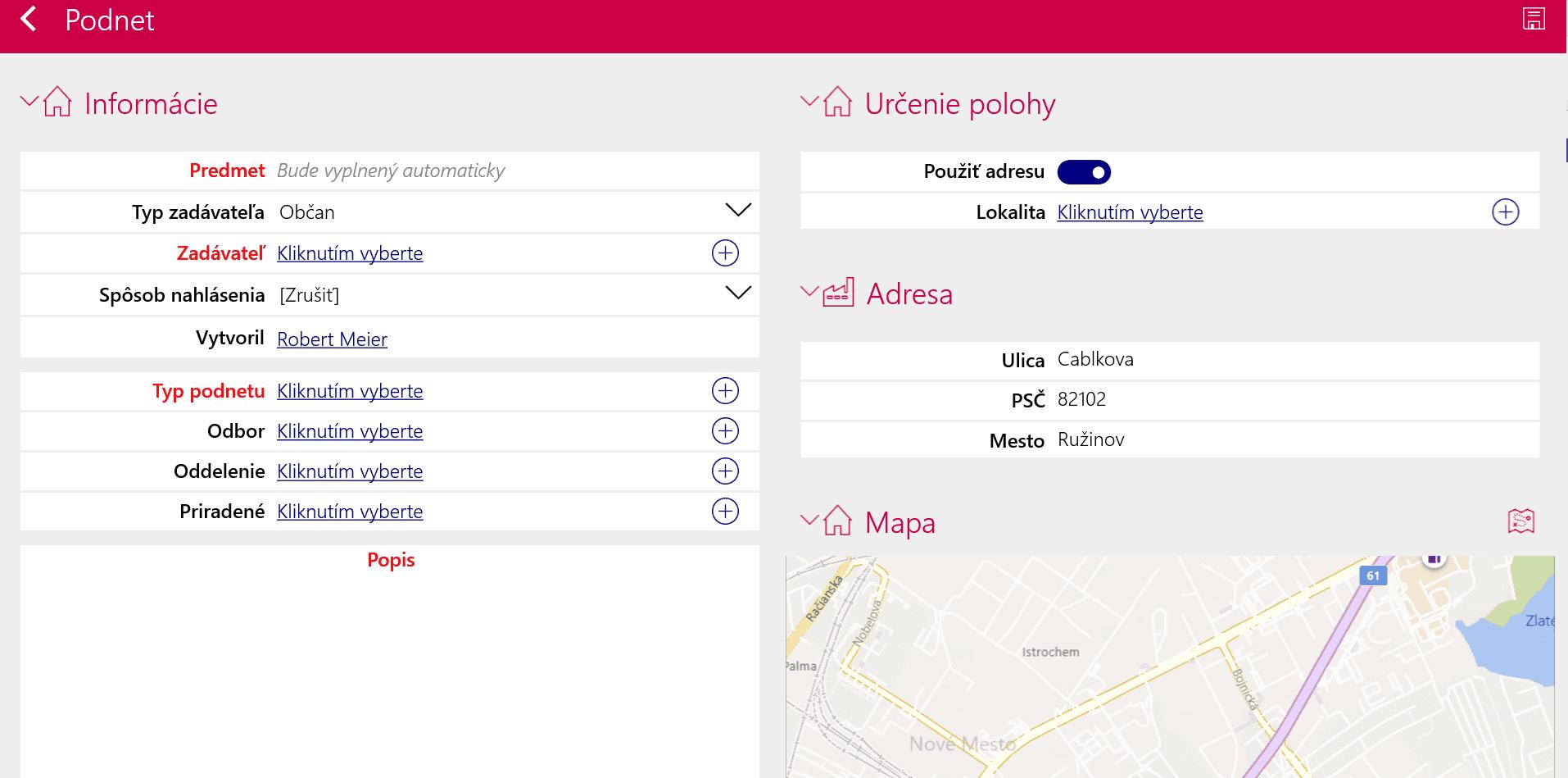 Resco City Smart Services dashboard