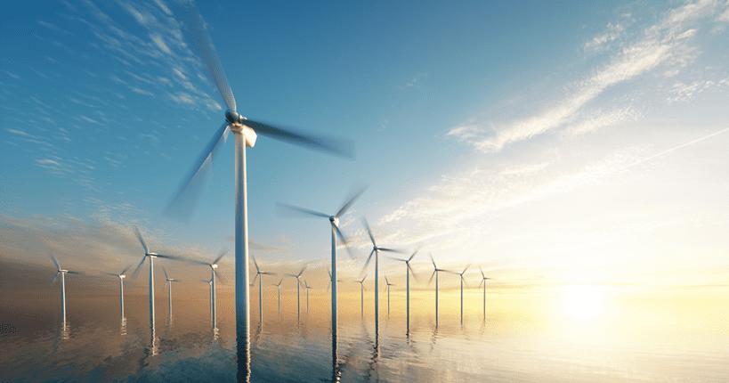 renewables energy producing wind farm