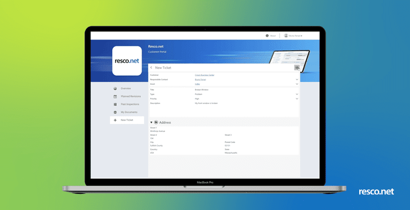 client portal in resco spring update