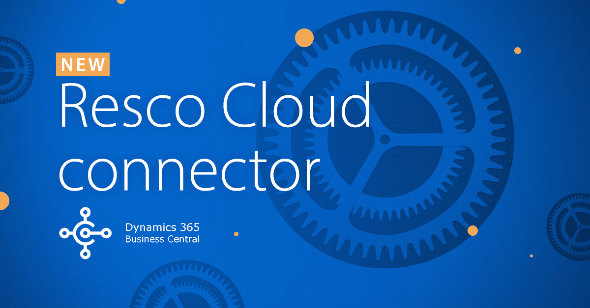 Resco Cloud connector to microsoft business central title image