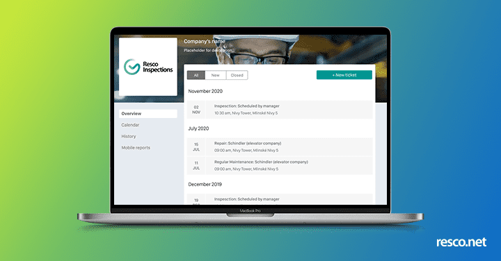 Resco Customer Portal screen coming in the spring update 2021