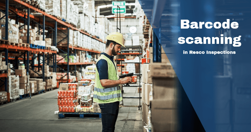 Barcode scanning in resco inspections