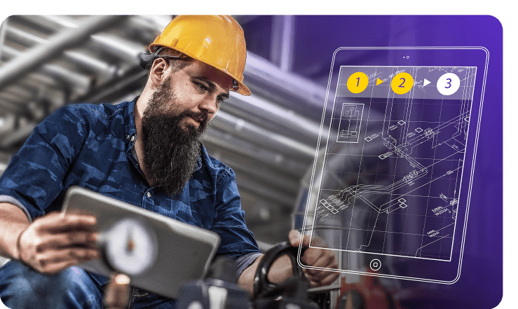 The workforce knowledge management software and augmented reality app