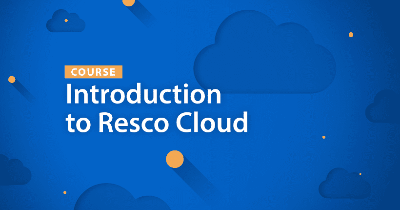 Introduction to Resco Cloud course