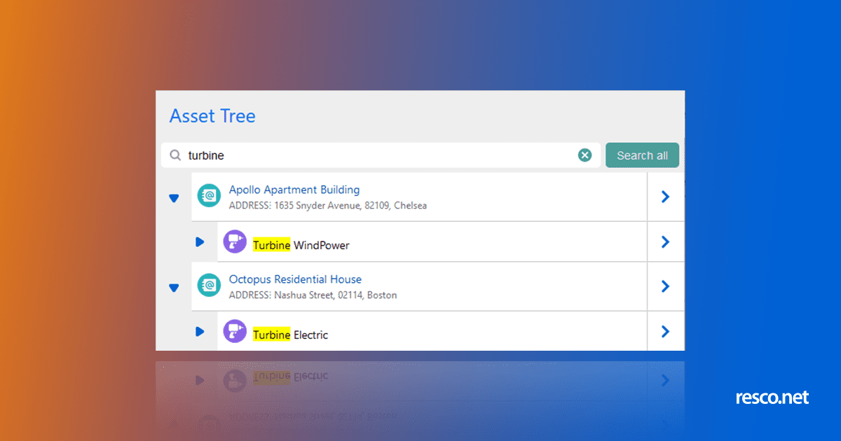 Resco app hierarchy tree